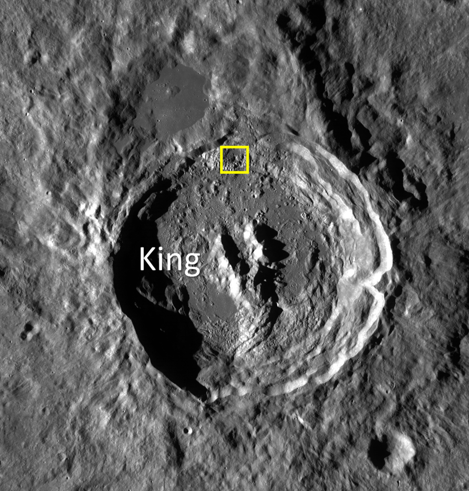 WAC context image of King Crater