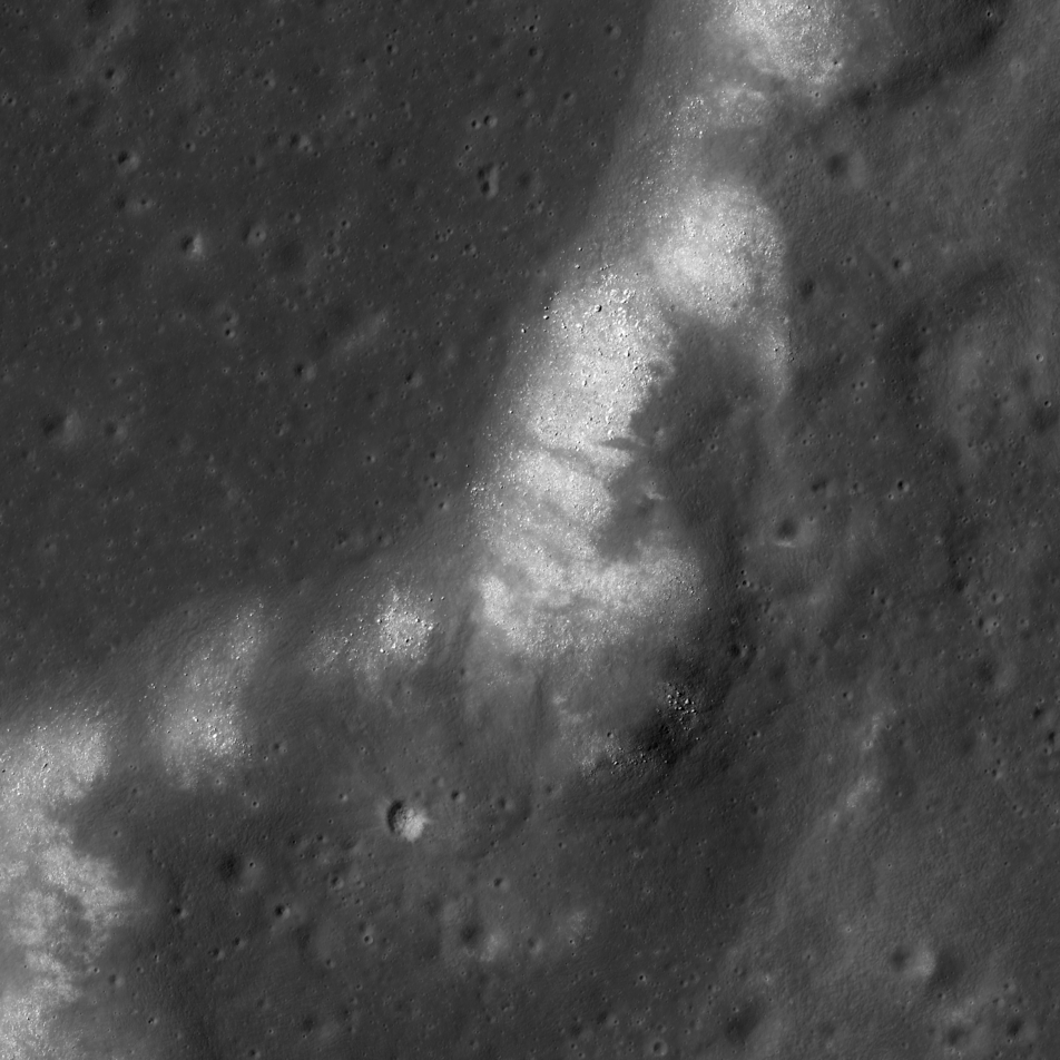 LROC NAC image of wrinkle ridge.
