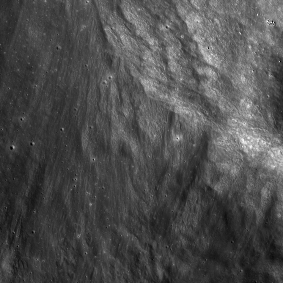 Image of a ray of ejecta on the Moon.