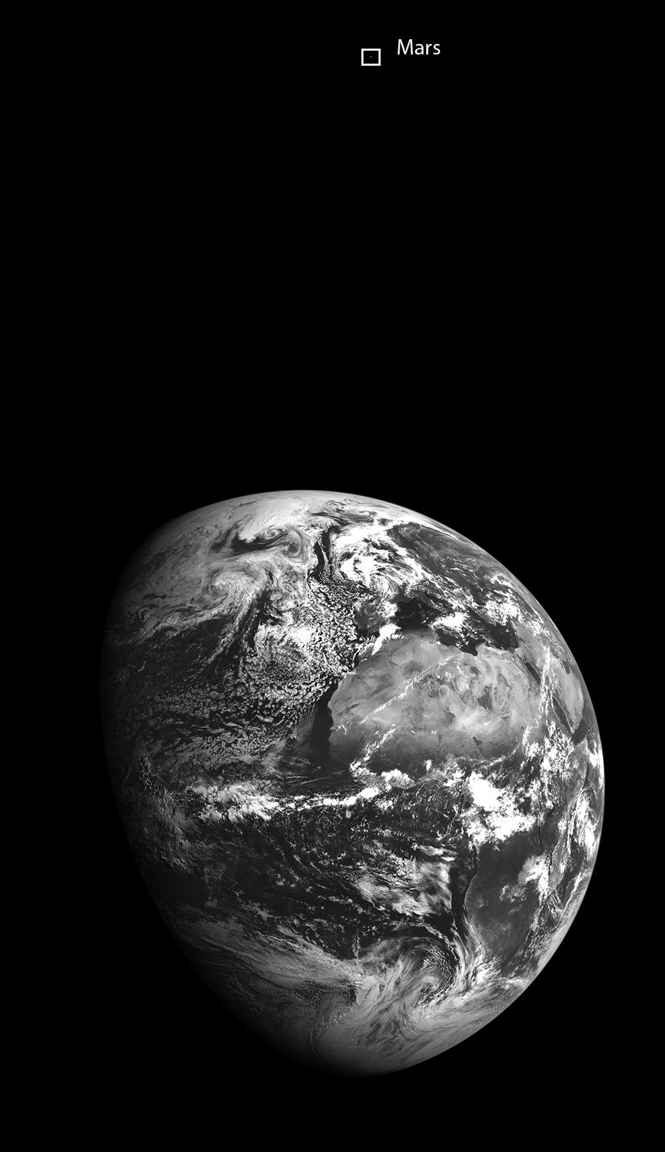 Mars and Earth in one image