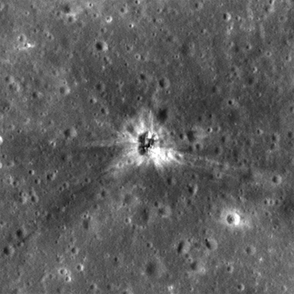 NAC M183689432L showing AS 16 S-IVB crater