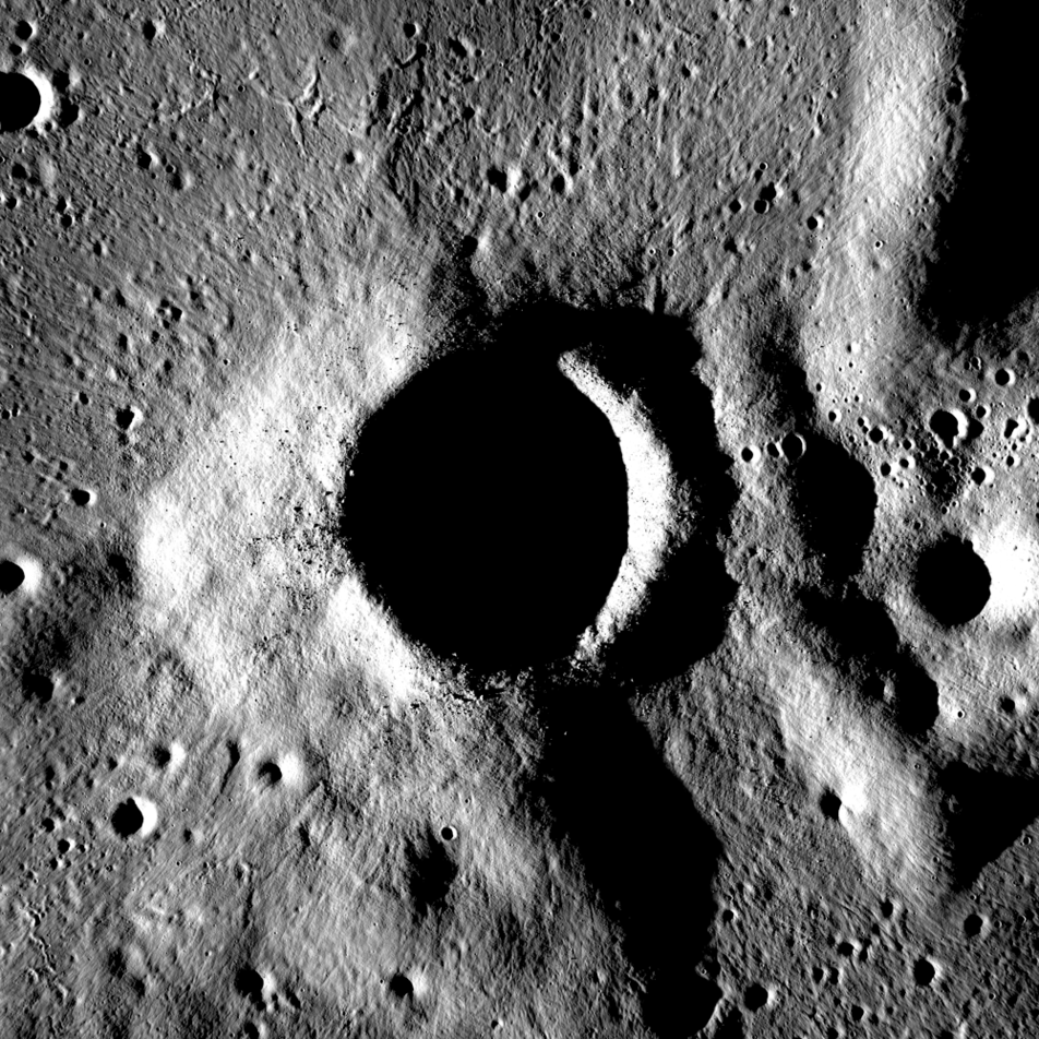 Fresh crater in Campbell