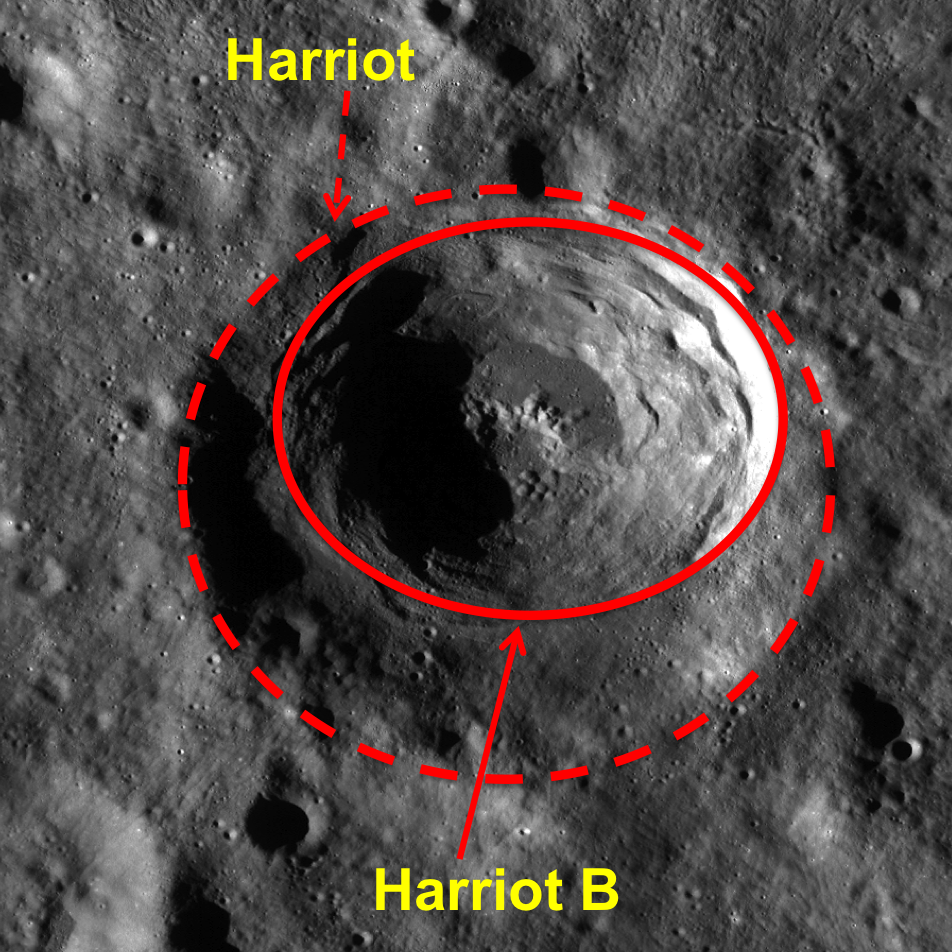 WAC context image of Harriot crater.