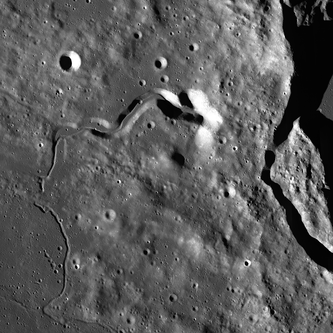 The west side of Plato
