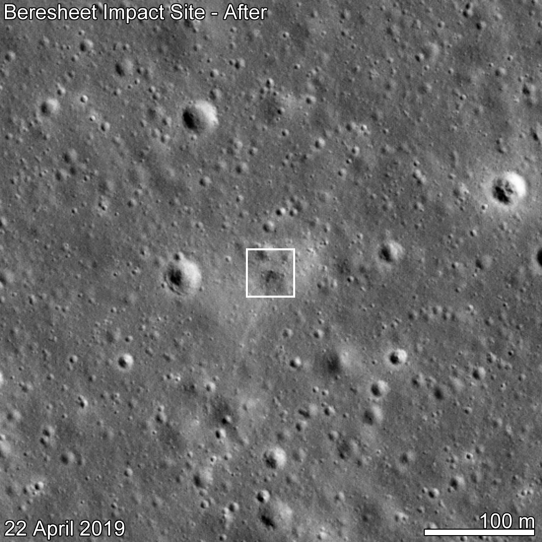the latest 4c7d3 fe139 Beresheet Crash Site Spotted!