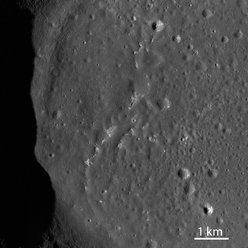 Small patches of rough terrain in Sosigenes Crater