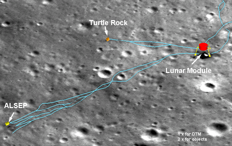 location moon map landing site apollo 12 - photo #41