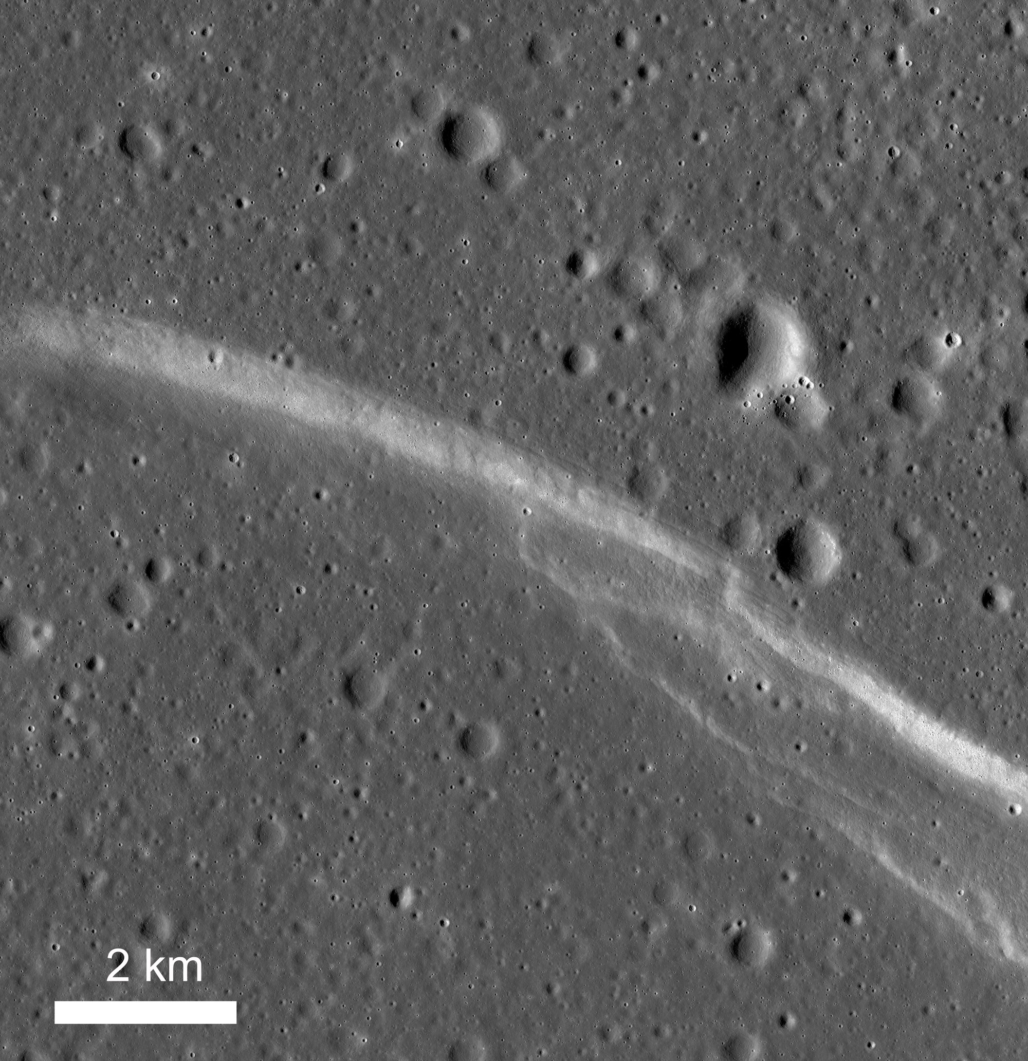 Broad view of Rupes Cauchy