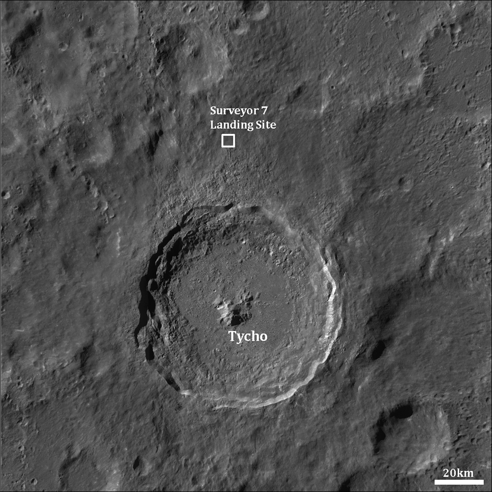 Image result for surveyor 7 on the moon
