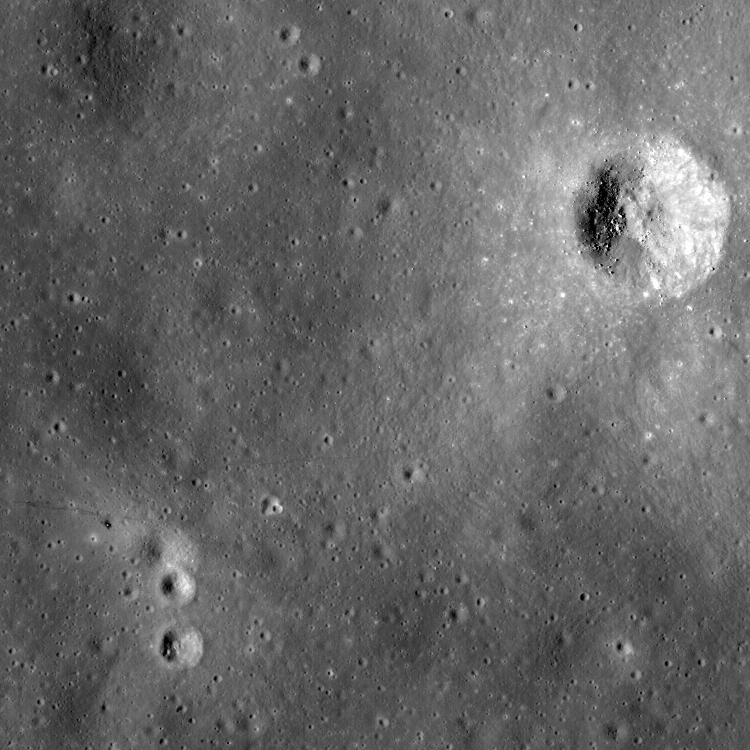 The LRO device photographed an unusual lunar formation 54