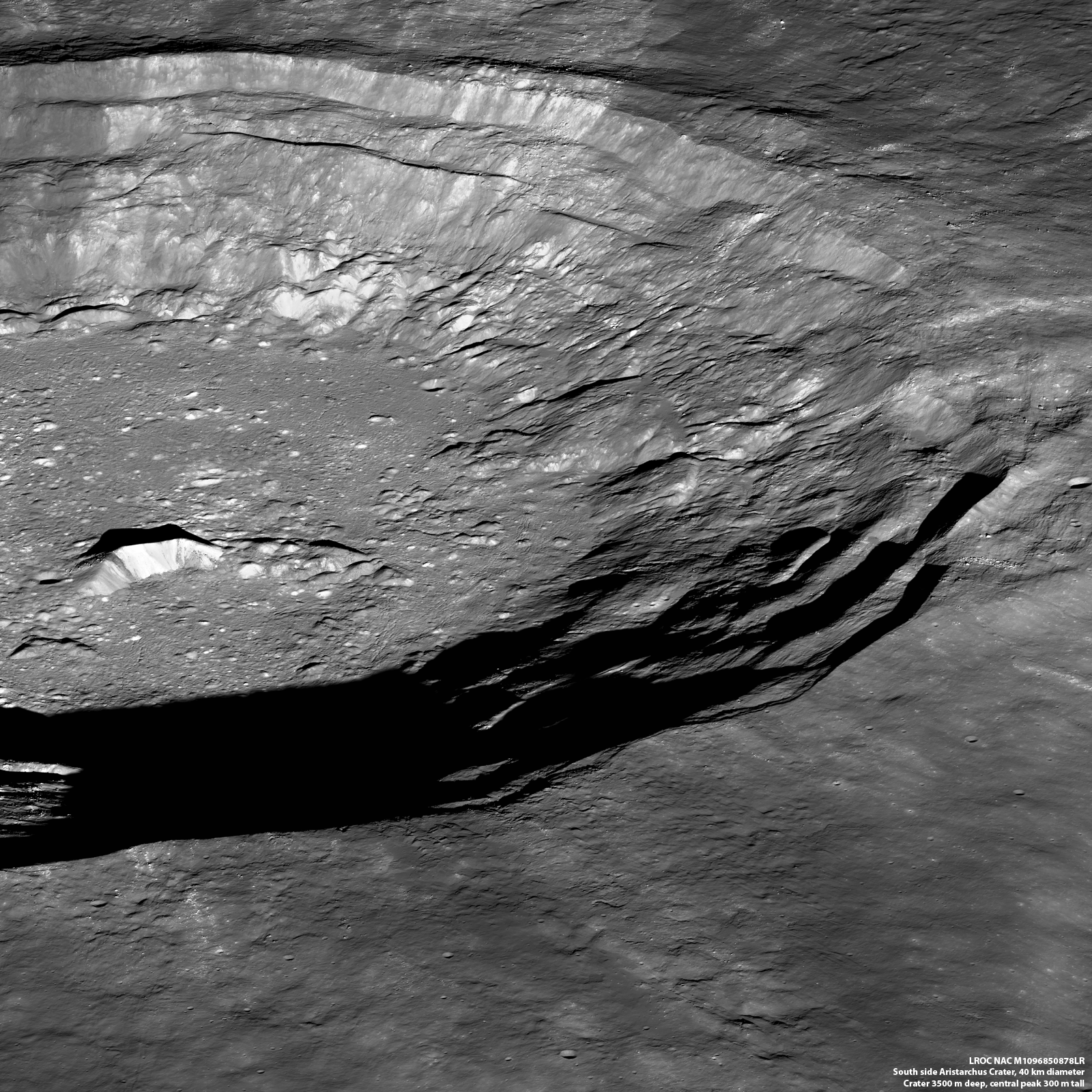 SE Aristarchus crater oblique
