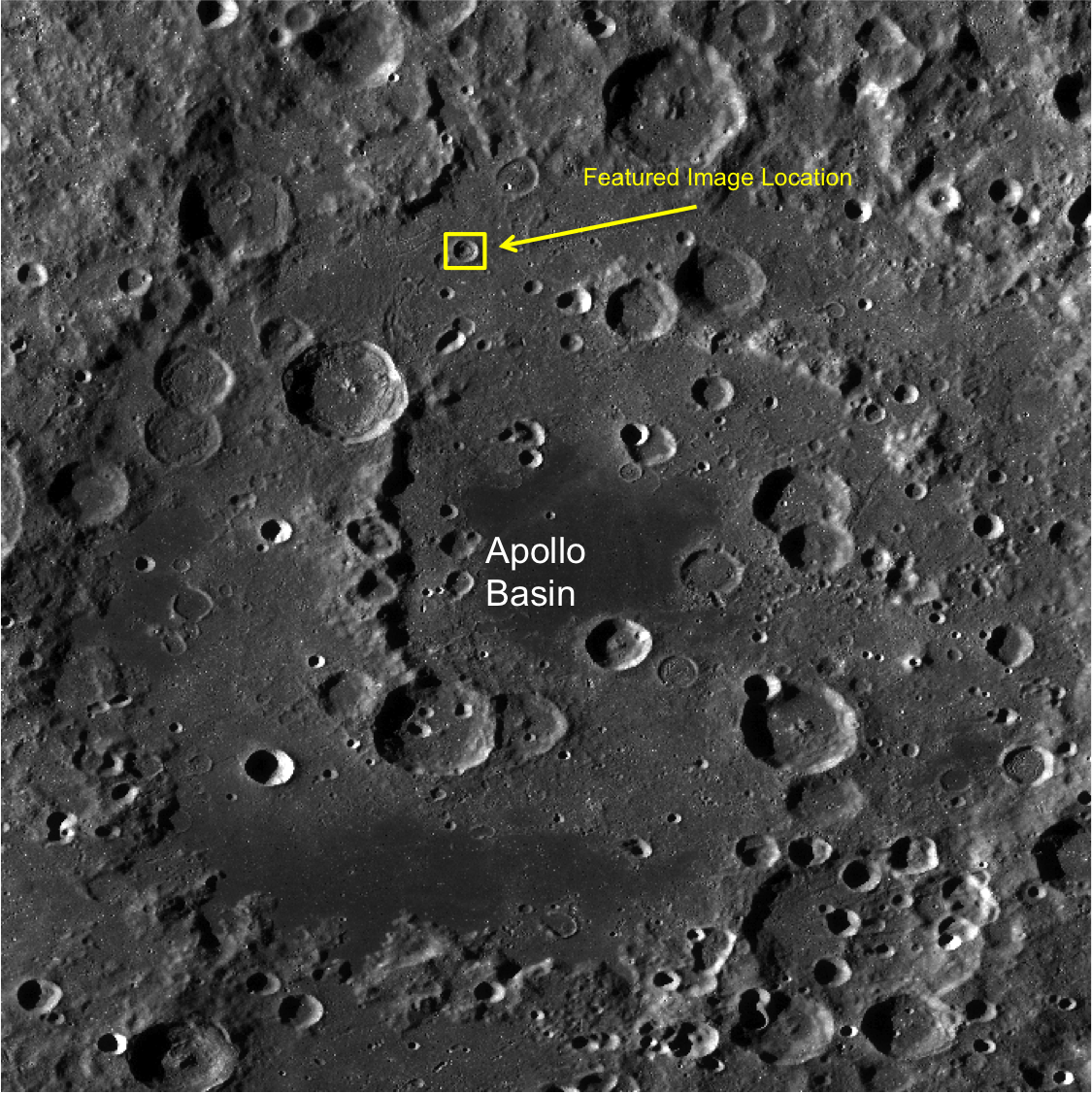 Apollo basin concentric crater context