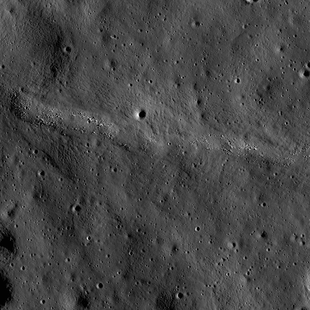 Lunar Pioneer: Nascent wrinkle ridge in Jenner