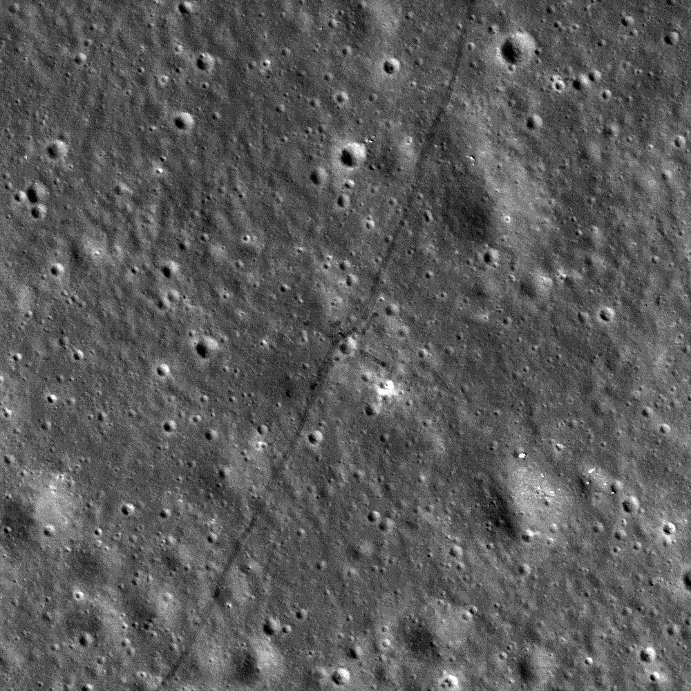 Tracks of Lunokhod 2