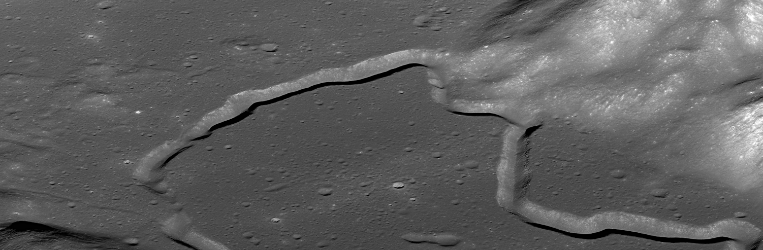 Oblique View of Hadley Rille