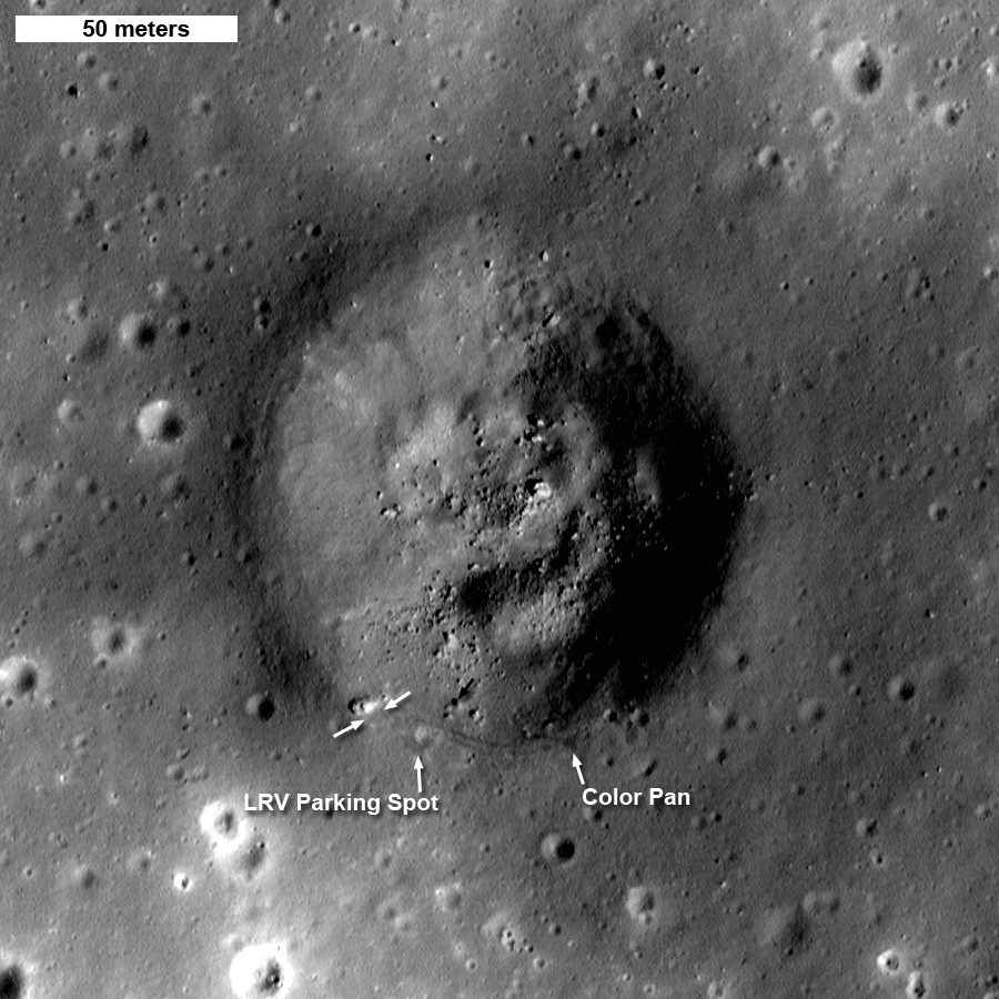 Shorty crater labeled