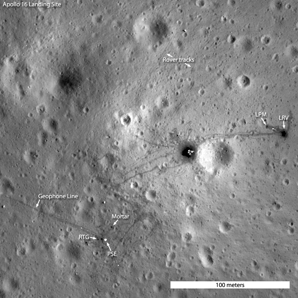 Apollo 16 site low orbit