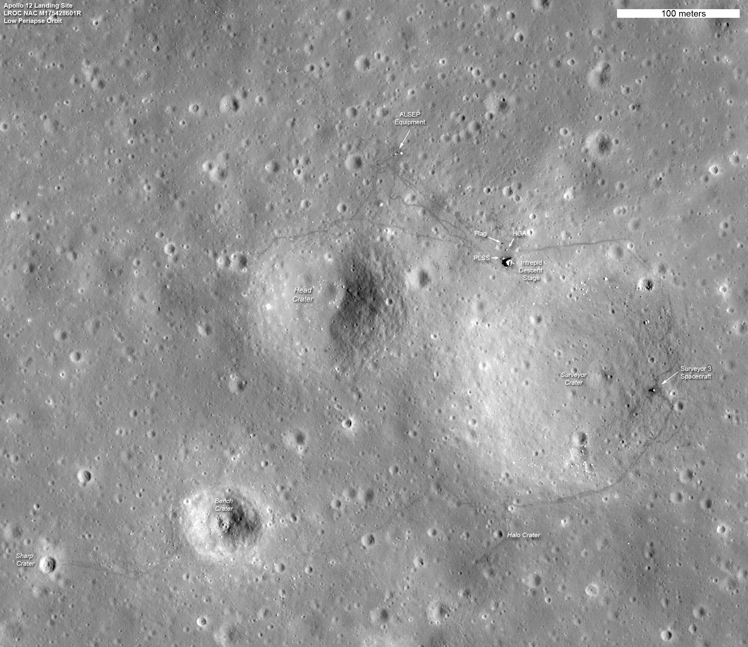 Apollo 12 Site annotated