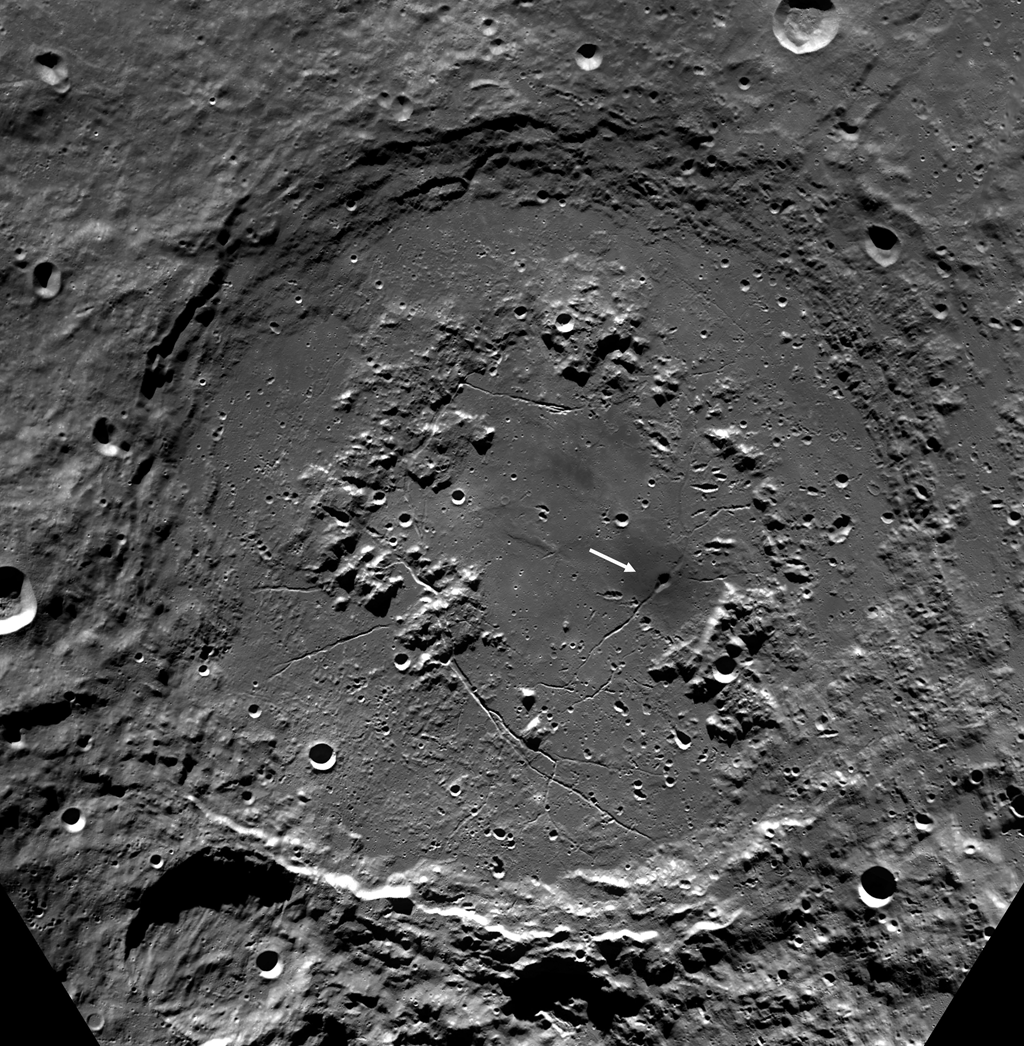 Craters On The Schrodinger Pyroclastic Cone Lunar