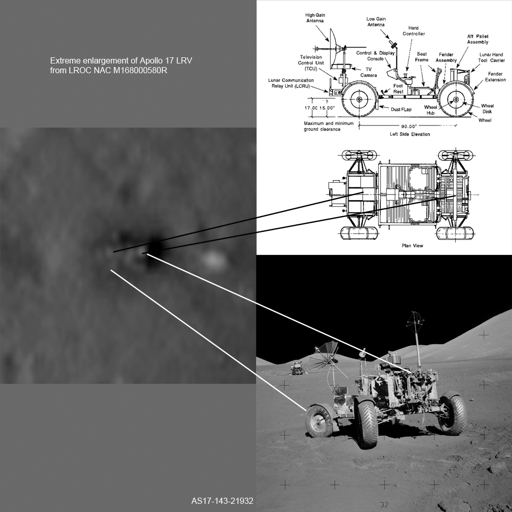 Apollo 17 LRV enlargement