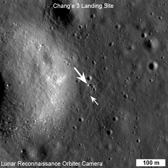 Chang_e Måne roveren set fra rummet