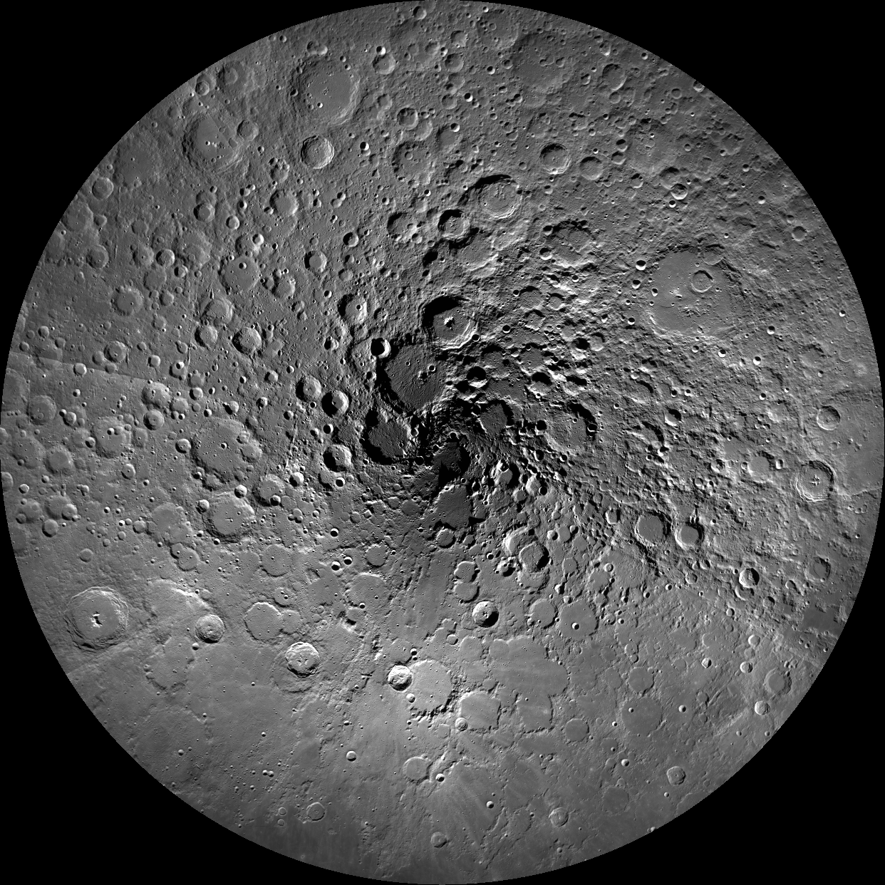 newest 8b5ae 59052 LROC Wide Angle Camera mosaic of the Moon s north pole  polar stereographic  projection, 60°N to 90°N  NASA GSFC Arizona State University .