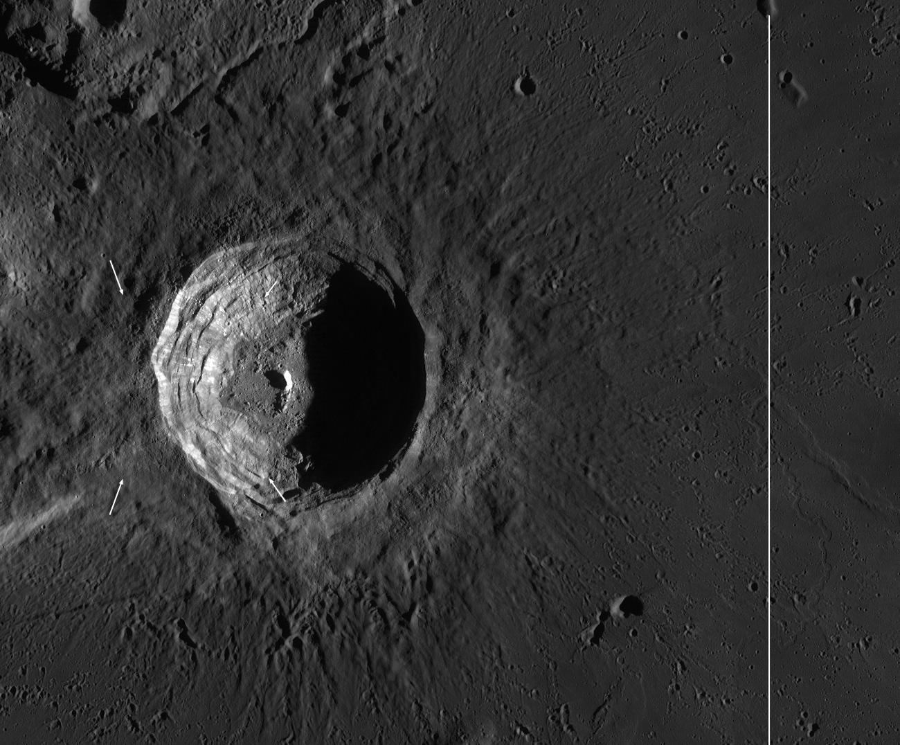 Dawn View of Aristarchus Crater